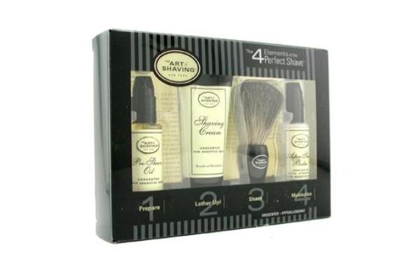 The Art Of Shaving Starter Kit - Unscented: Pre Shave Oil + Shaving Cream + Brush + After Shave Balm (4pcs)