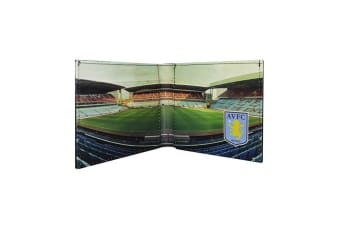 Aston Villa FC Official Football Stadium Leather Wallet (Multicoloured) (One Size)
