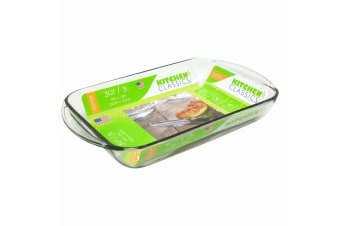 New Kitchen Classics Glass Baking Tray Dish Bakeware 3L Oven Safe