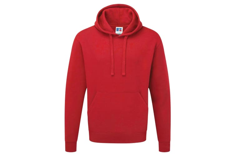 Russell Mens Authentic Hooded Sweatshirt / Hoodie (Classic Red) (L)