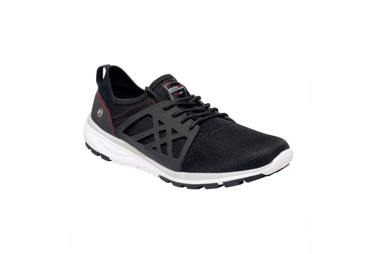 Regatta Mens Marine Sport II Trainers (Black/Classic Red) (9.5 UK)