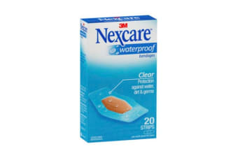 Nexcare Waterproof Strips (31mm x 63mm, 20 Pack)