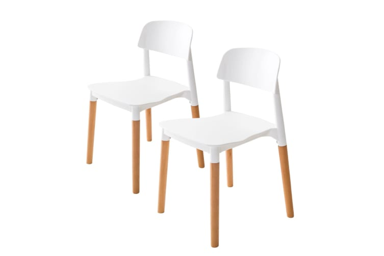 Replica Belloch Stackable Dining Chair - WHITE X2