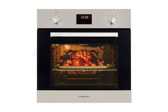 NEW 60cm Stainless Fan Forced Electric Wall Oven 8 Function Grill Touch Control