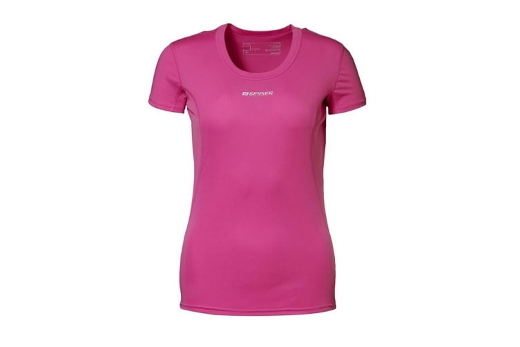 ID Womens/Ladies Active Short Sleeve Fitted Sport T-Shirt (Pink) (L)