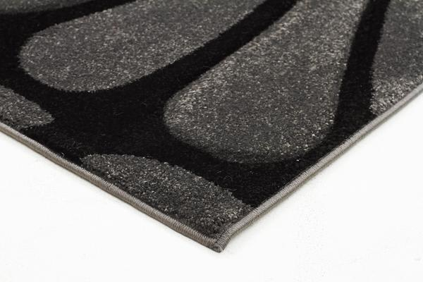 Cross Hatch Modern Rug Charcoal 230x160cm