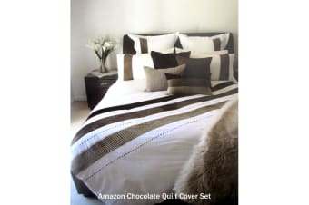 Amazon Chocolate Quilt Cover Set by Manhattan