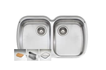 Oliveri Monet Double Bowl Undermount Sink (MO70U)