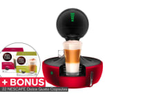 NESCAFE Dolce Gusto Drop Automatic Capsule Coffee Machine with BONUS 32 Capsules - Red Metal