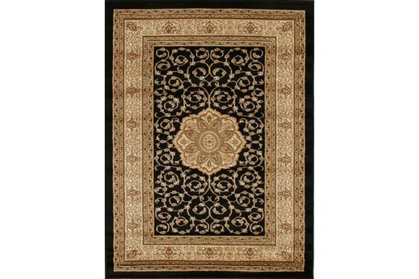 Medallion Classic Pattern Rug Black 290x200cm