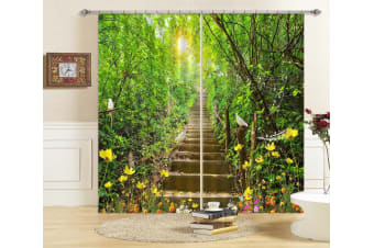 3D Forest Path 136 Curtains Drapes