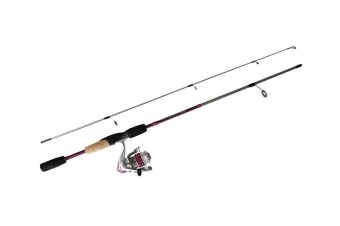 Pink 6'6 Okuma Steeler XP 2 Piece Fishing Rod and Reel Combo Spooled with Line