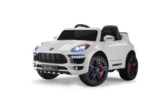 ROVO KIDS Ride-On Car PORSCHE MACAN Inspired Electric Toy Battery 12V White