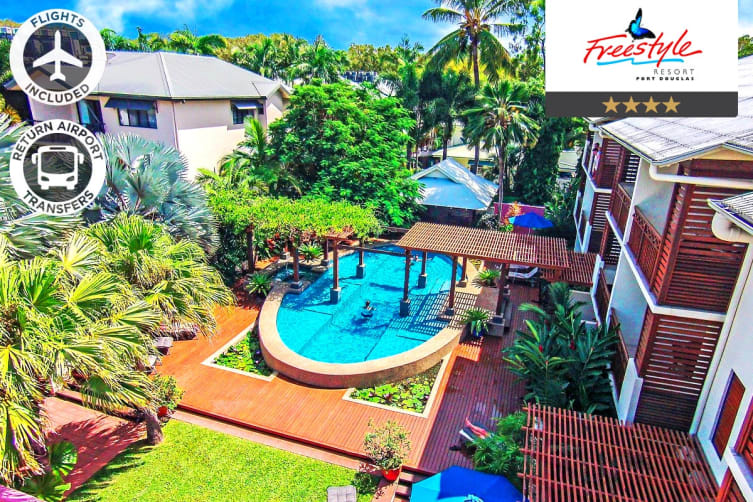 PORT DOUGLAS: 4 Nights at Freestyle Resort Port Douglas Including Flights For Two (Departing ADL)