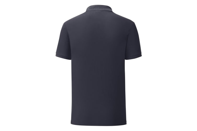 Fruit Of The Loom Mens Iconic Pique Polo Shirt (Deep Navy) (XL)