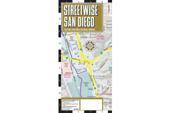 Streetwise Map San Diego- Laminated City Center Street Map of San Diego - City Plans