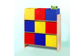 Artiss Kids Bookcase Childrens Bookshelf Storage Box Toys Organizer Display Rack