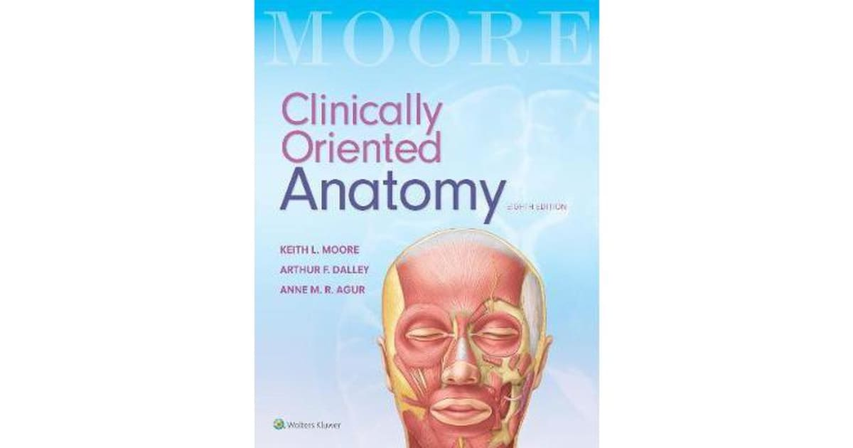 Colorful Keith L Moore Clinically Oriented Anatomy Crest - Anatomy ...