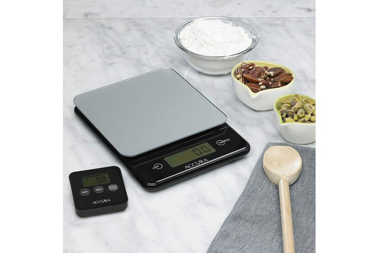 Accura Hebe 5kg Digital Kitchen Electronic Weight Weighing Scale Timer Value Set