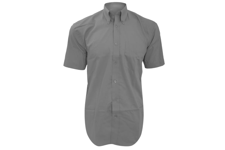 Kustom Kit Mens Short Sleeve Corporate Oxford Shirt (Silver Grey) (23inch)