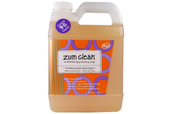 Indigo Wild Zum Clean Aromatherapy Highly Concentrated Handmade Essential Oils for Laundry & Machine Friendly Clothes Washing Soap - Frankincense & Patchouli, 940ml