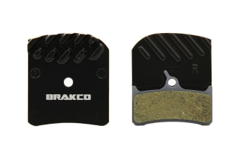 Brakco Organic Disc Pads With Heat-dissipation Fin For DEORE XT BR-M755/GRIMECA system 8/SRAM 9.0/Hope mono M4