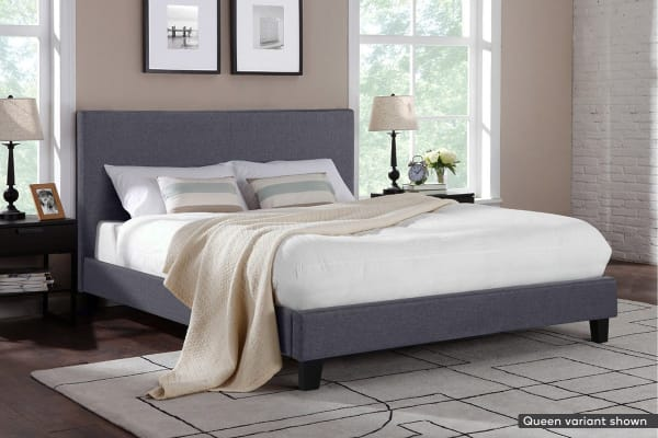 Shangri-La Bed Frame - Ravello Collection (Charcoal Grey, Double)