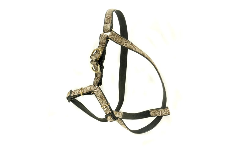 Vital Pet Products Yaquarete Adjustable Dog Harness (Black/Brown) (One Size)