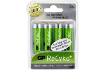 Gp Recyko Lsd Aa Battery 4Pk
