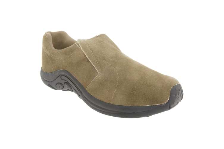 PDQ Adults Unisex Real Suede Ryno Slip-On Casual Trainers (Taupe) (11 UK)