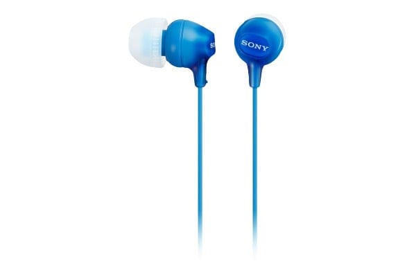 Sony Ex Series In-Ear Headphones with Smartphone Control - Blue (MDREX15APLI)