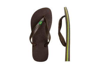 Havaianas Brasil Thongs (Dark Brown)