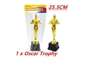 1 x Large Hollywood Award Gold Oscar Movie Trophy Inspired Ceremonies Party Favor