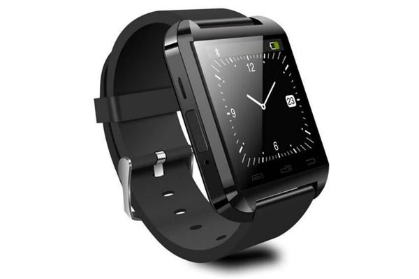 "Bluetooth V3.0 Smart Watch 1.48"" Touch Lcd Rechargeable Handsfree Speaker Black"