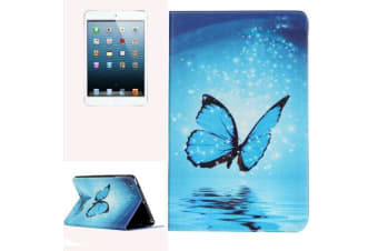 For iPad mini 1 2 3 Case Stylish Butterfly Durable Protective Leather Cover Blue
