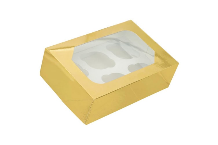 Club Green 6 Muffin Box (Pack Of 2) (Gold) (One Size)