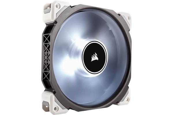 Corsair ML140 Pro LED, White, 140mm Premium Magnetic Levitation Fan
