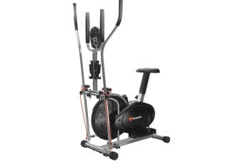 Workoutwiz Elliptical Cross Trainer Exercise Bike Bicycle with Dumbbell Rack