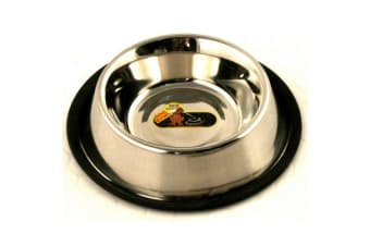 Classic Non Tip Stainless Steel Dog Bowl (May Vary) (500ml)