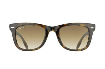 Ray-Ban RB4105 FOLDING WAYFARER - Crystal Light Havana (Brown Gradient lens) / 50--22--140 Unisex Sunglasses