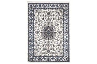 Medallion Rug White with White Border 170x120cm