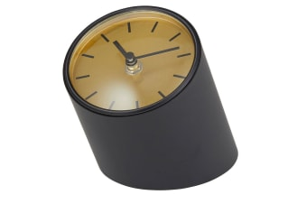 Onyx Mantle Home Office School Living Room Bedroom Table Desk Clock Black Gold