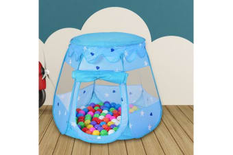 Ball Pit Play Tents for Kids 6-sided Playhouse BLUE