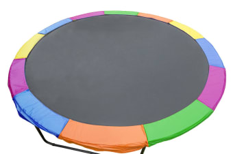 Trampoline 12ft Replacement Outdoor Round Spring Pad Cover - Rainbow