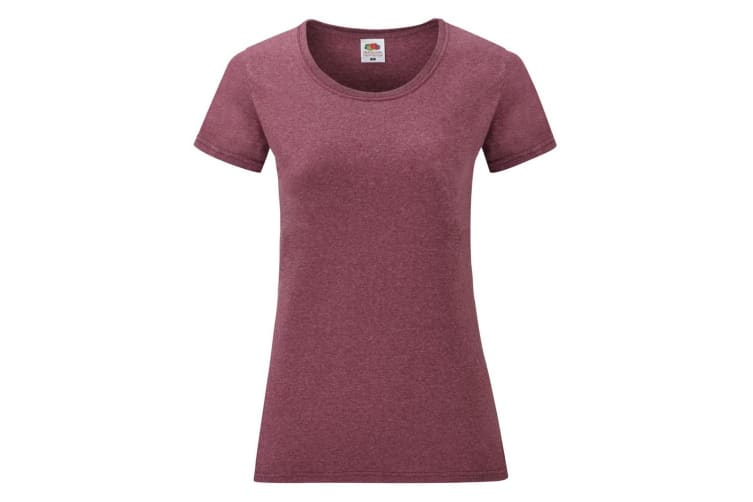 Fruit Of The Loom Ladies/Womens Lady-Fit Valueweight Short Sleeve T-Shirt (Heather Burgundy) (2XL)