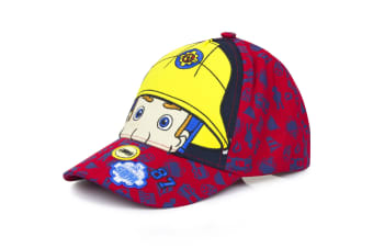 Fireman Sam Childrens/Kids Eyes And Helmet Baseball Cap (Red)