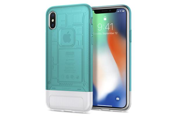 Spigen (Premium) iPhone X Case Classic C1 Bondi Blue 057CS23194