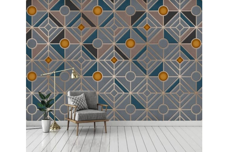 3D Geometric Patterns 1436 Wall Murals Self-adhesive Vinyl, XXXL 416cm x 254cm (WxH)(164''x100'')