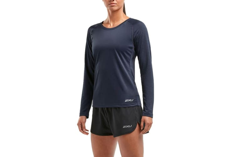 2XU Women's XVENT Long Sleeve Top (Outer Space, Size L)