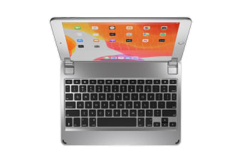 "BRYDGE Keyboard/Cover Case for 25.9 cm (10.2"") Apple iPad (7th Generation) Tablet - Silver -"